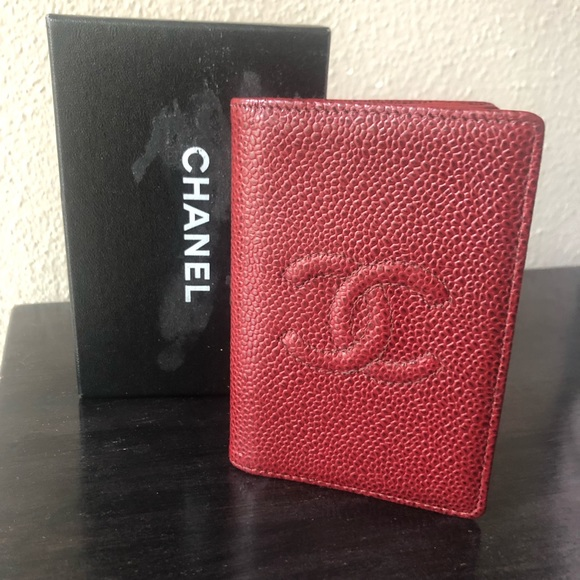 2b5809165a590c CHANEL Bags | Dark Red Caviar Timeless Card Case | Poshmark